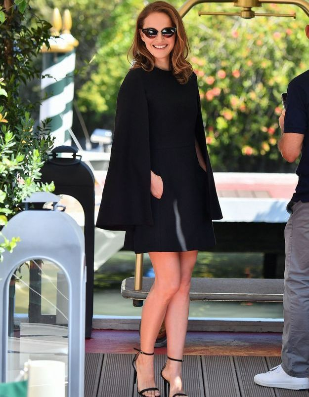 Natalie Portman arrive à la Mostra
