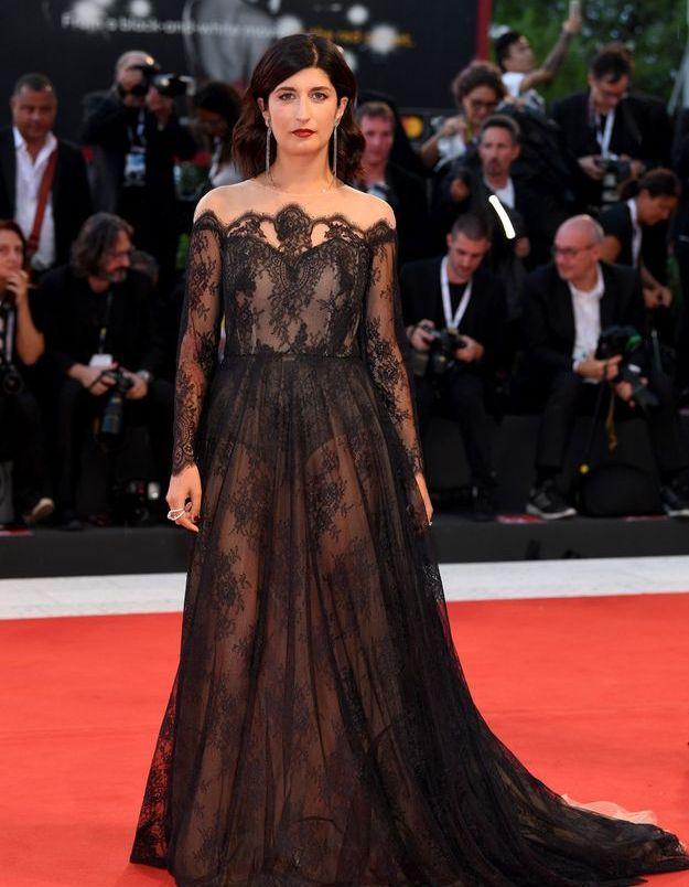 Valentina Siragusa  sur le tapis rouge de la Mostra