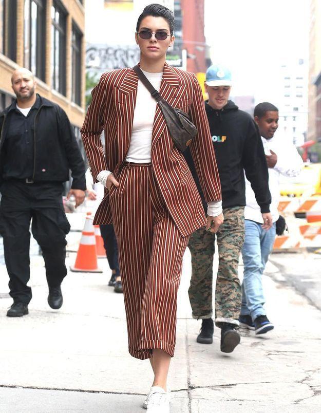 Pourquoi elle est bien : le look boyish de Kendall Jenner à New York