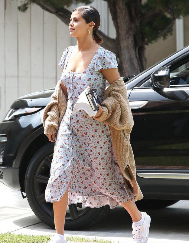 Selena Gomez va nous réconcilier avec l'imprimé Liberty