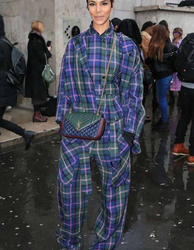 Look carreaux pour la Fashion Week en 2016