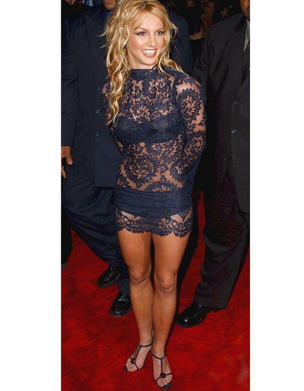 Britney Spears en robe transparente