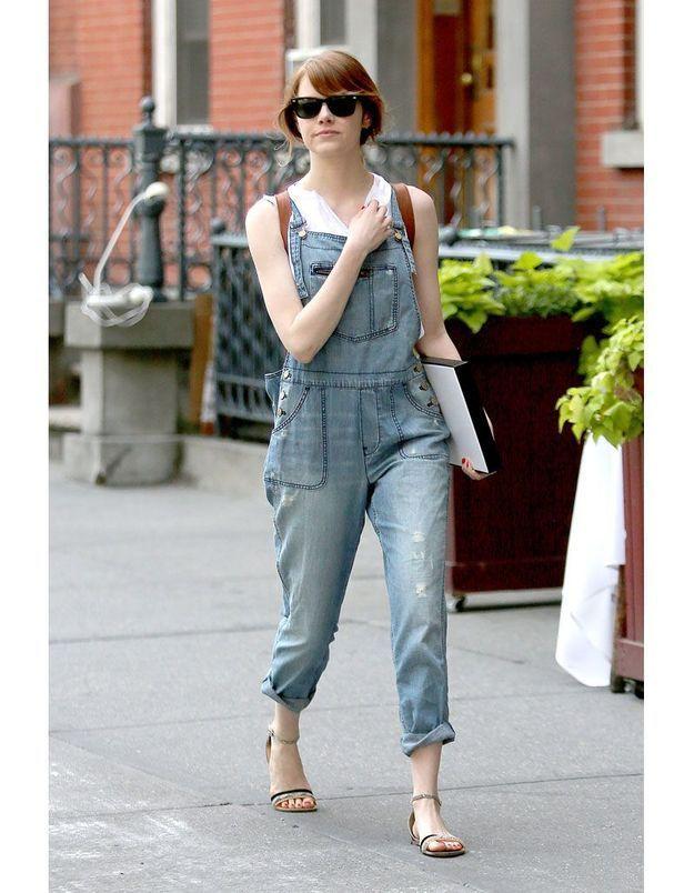 La salopette en jean d'Emma Stone