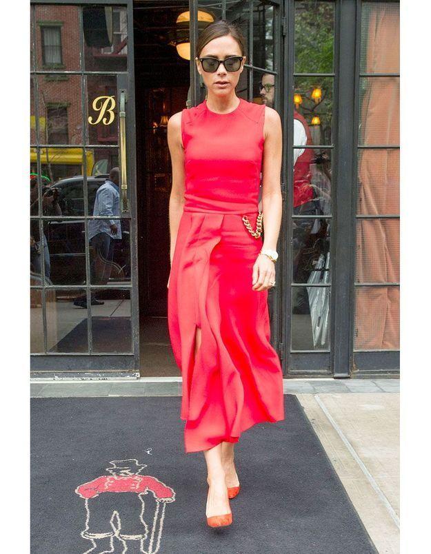 Le rouge vermeil de Victoria Beckham