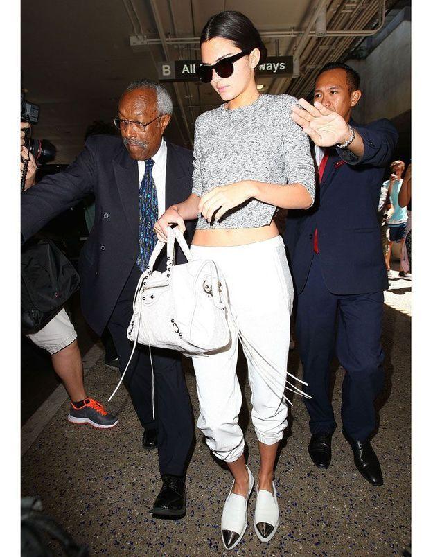 Les slip on pointues de Kendall Jenner