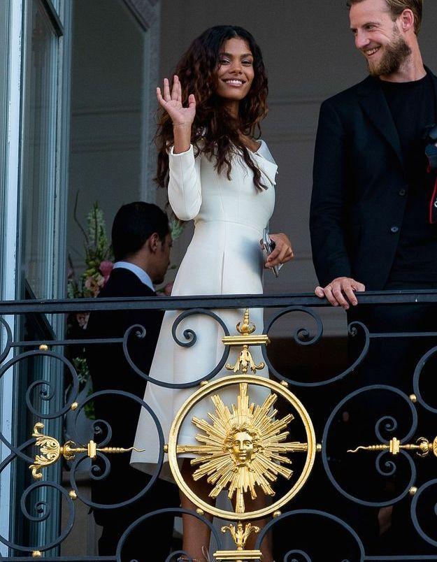 Tina Kunakey en robe Dior