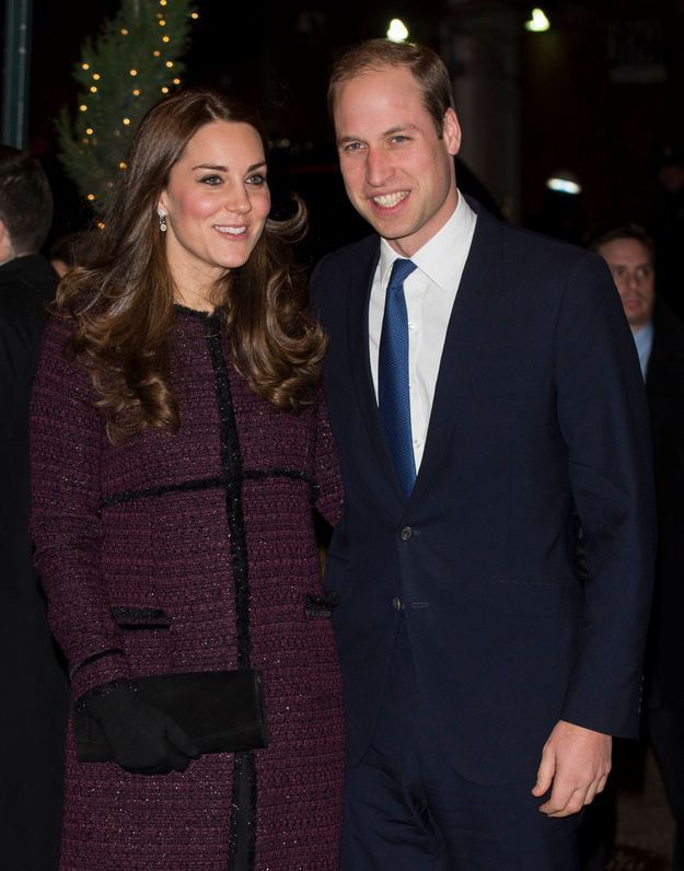 William et Kate Middleton, vêtue d'un manteau en tweed en décembre 2014 à New York.