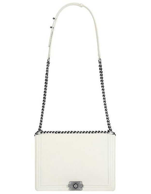 Mode dossier tendance it bad sac luxe rentree Boy Chanel Sac blanc en cuir