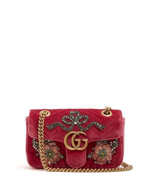 Mini sac en velours bijoux Gucci