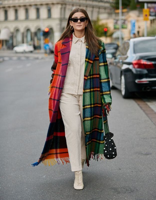 Un manteau plaid, tu garderas (au chaud)