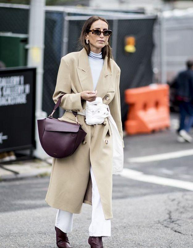 Un manteau beige