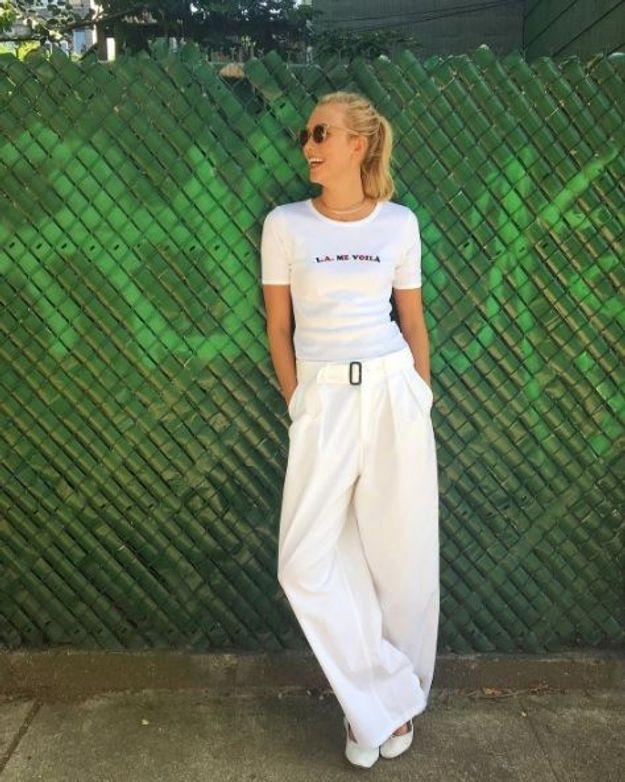 Le pantalon large de Karlie Kloss