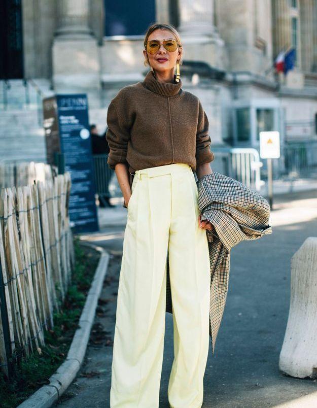 Une maille + un pantalon large