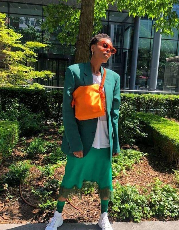 Le vert working-girl