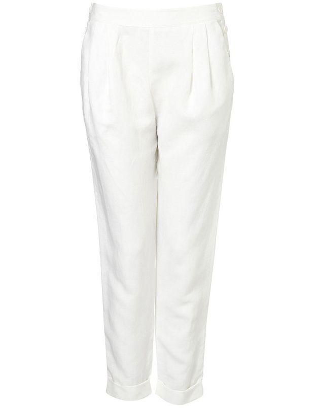 Topshop pantalon blanc