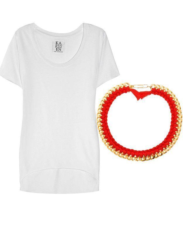 T-shirt blanc Zoe Carsen
