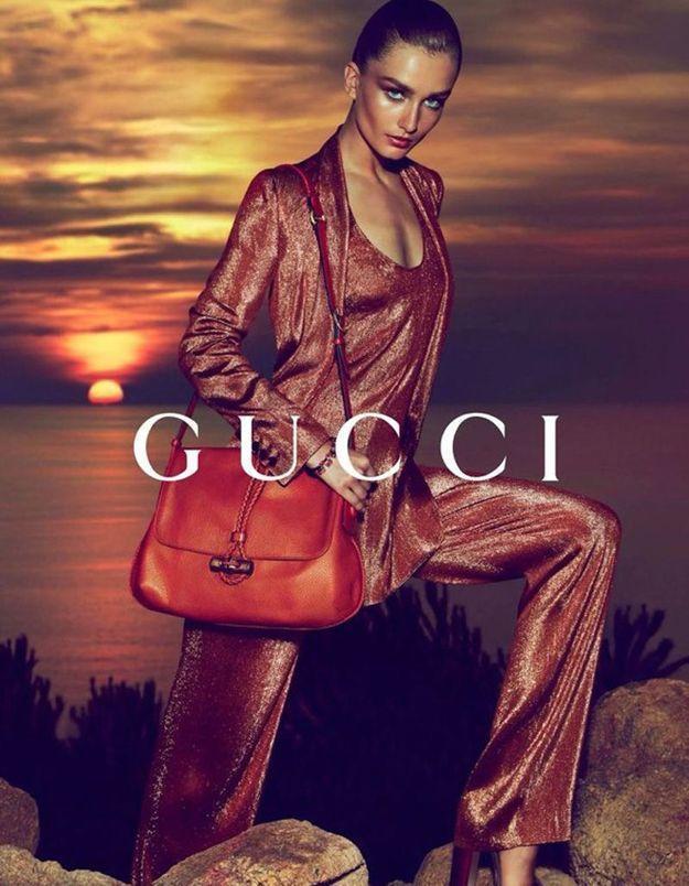 Frida dirige la création de toutes les campagnes de pub Gucci