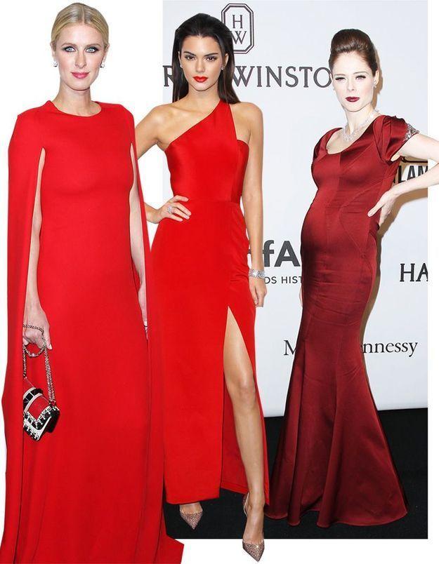 AmfAR 2015: Kendall Jenner, Coco Rocha et Nicky Hilton, qui était la plus belle en robe rouge ?