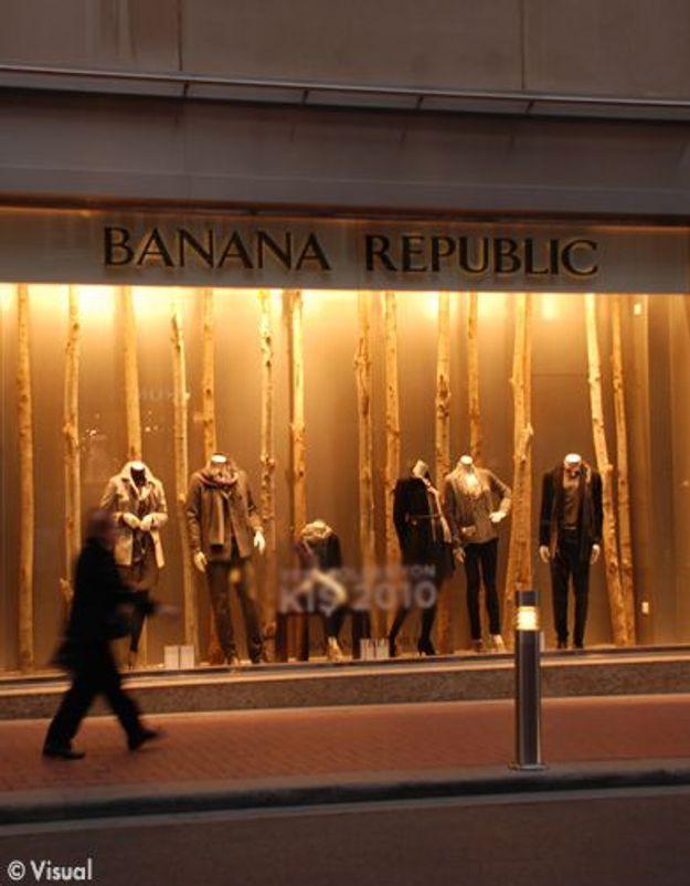Banana Republic élit domicile sur les Champs Elysées