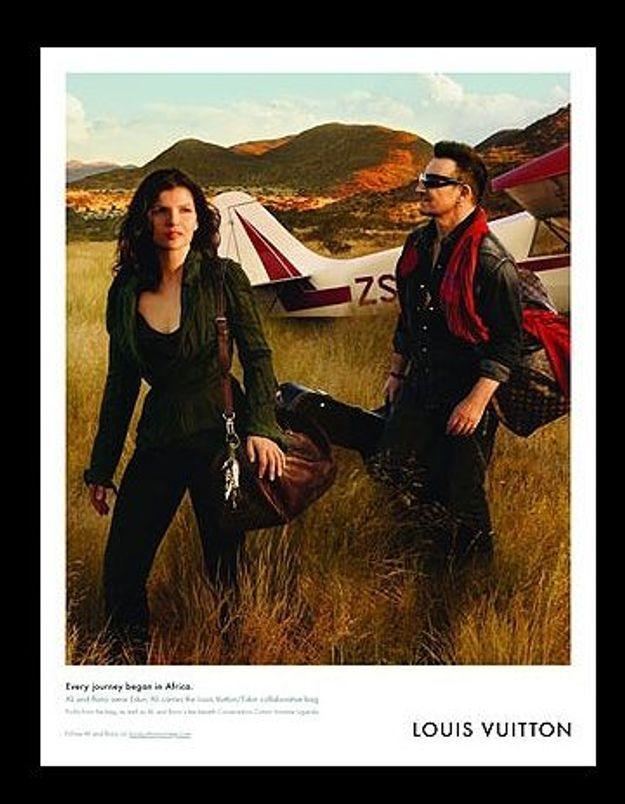 """Bono et son épouse pour Louis Vuitton """"pour la bonne cause"""""""