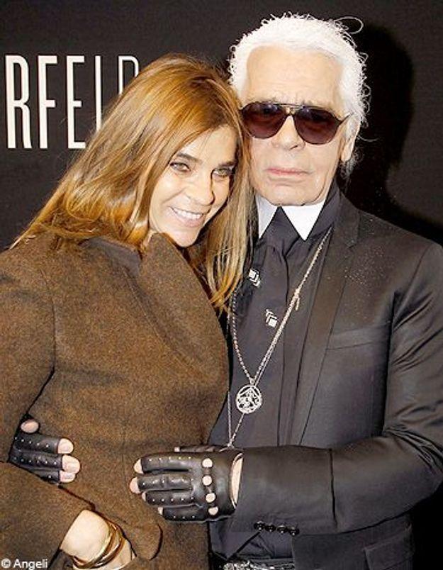 Carine Roitfeld et Karl Lagerfeld collaborent pour Chanel