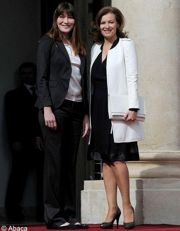 Carla Bruni-Sarkozy vs Valérie Trierweiler : fashion match
