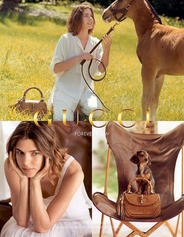 Charlotte Casiraghi amie des animaux pour Gucci