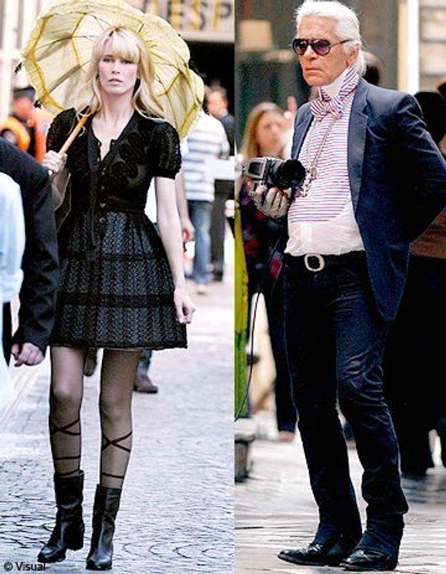 Claudia Schiffer shootée par Karl Lagerfeld à Buenos Aires