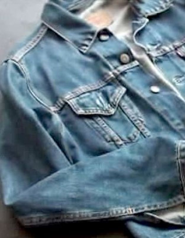 Do it yourself : une veste en jean vintage