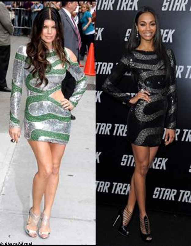 Fergie Vs Zoe Saldana : qui est la plus chic en robe à paillettes ?