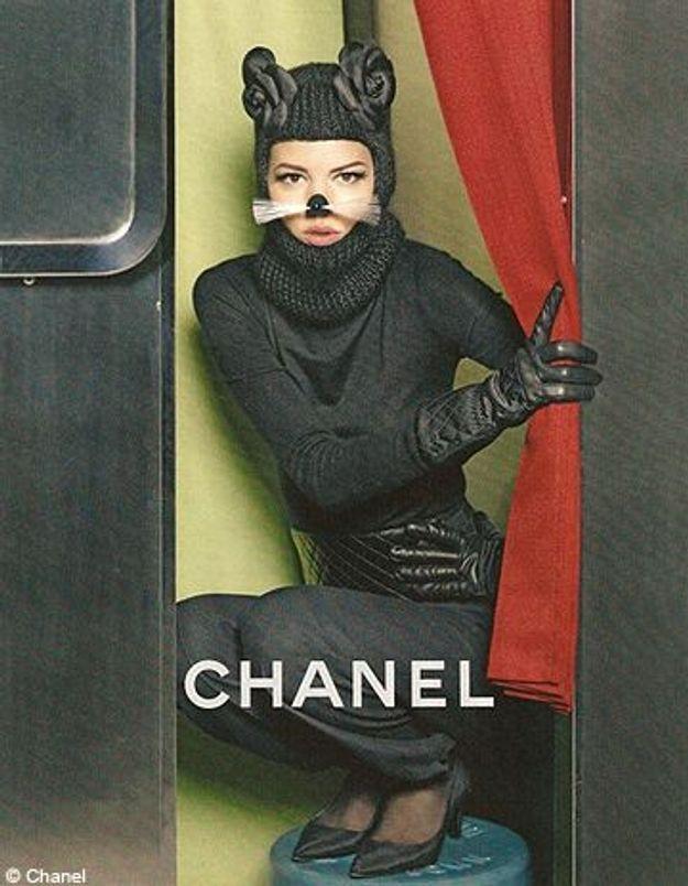 Freja Beha, féline dans la nouvelle campagne Chanel