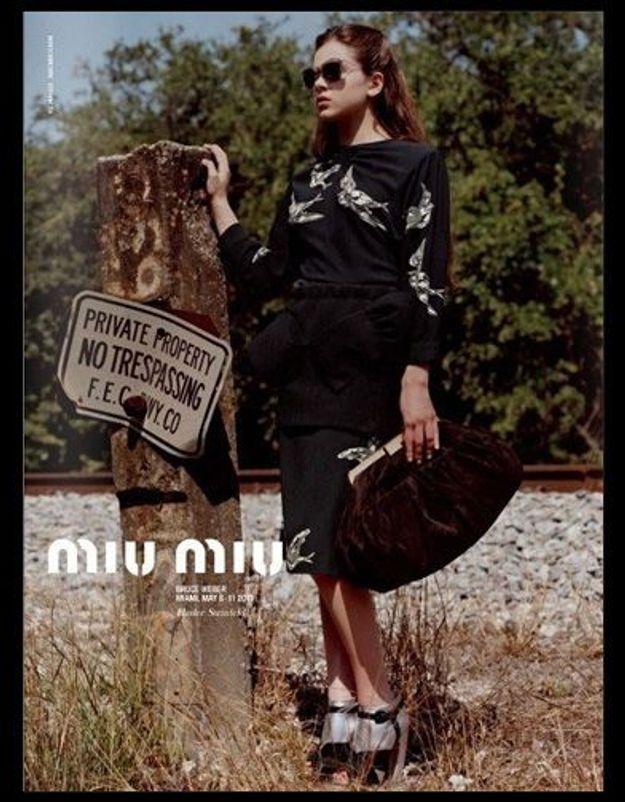 Hailee Steinfeld, nouvelle égérie de Miu Miu