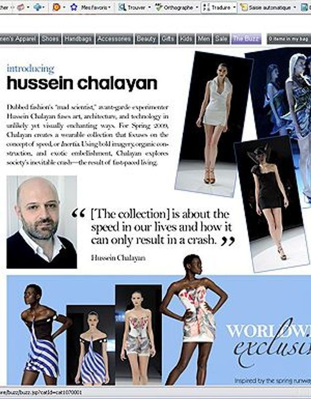 Hussein Chalayan en exclusivité sur eLuxury.com