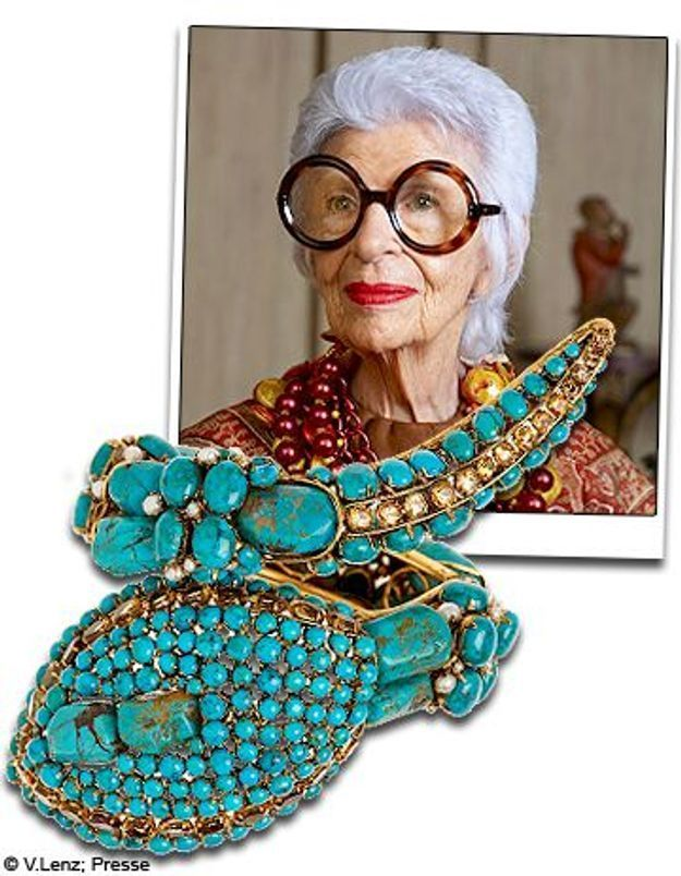 Iris Apfel, la doyenne de la mode, est sur yoox.com