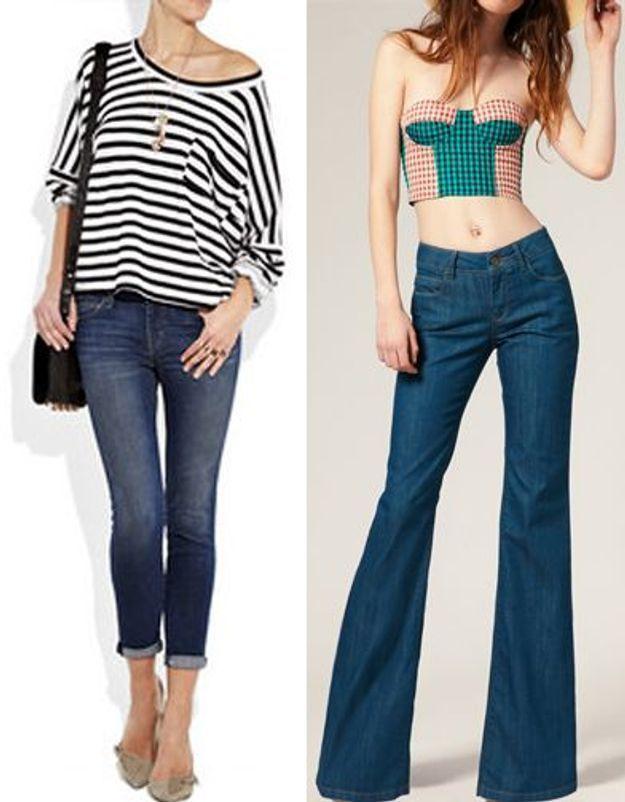 Jeans flare ou 7/8 : une vraie querelle de fille !