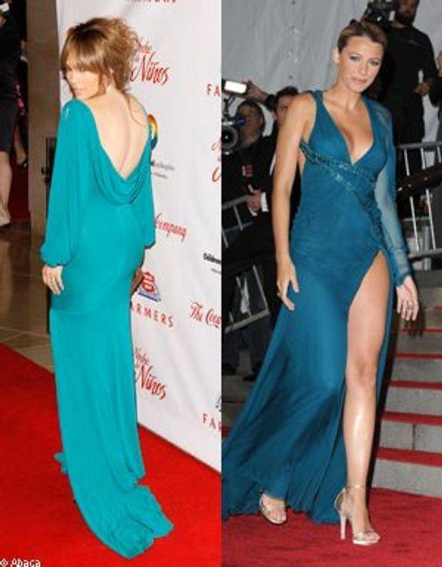 Jennifer Lopez et Blake Lively : précieuses robes vertes sur le tapis rouge