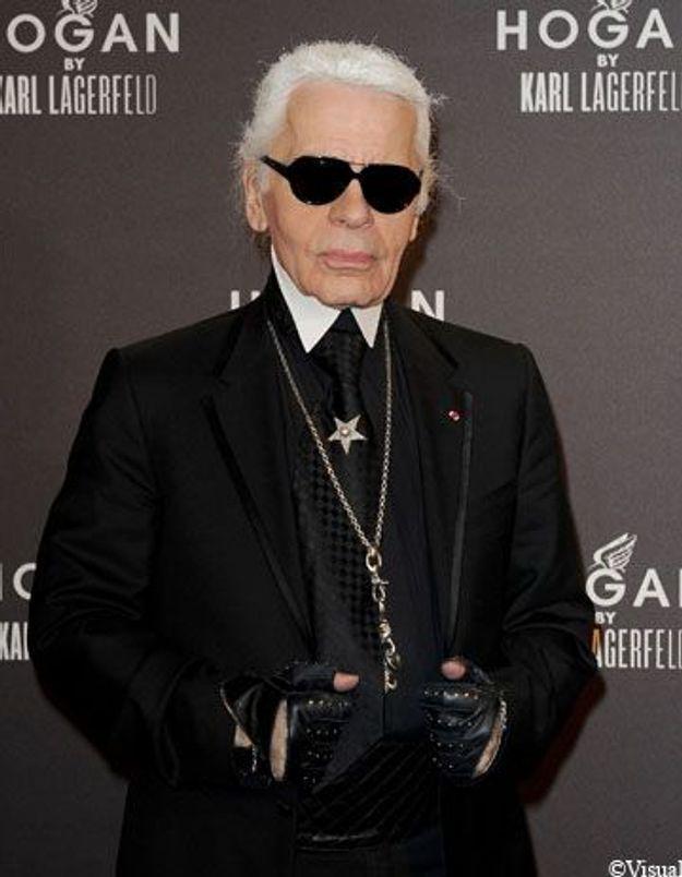 Karl Lagerfeld fête sa nouvelle collaboration avec Hogan