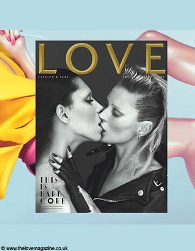 Kate Moss et Léa T. s'embrassent pour Love