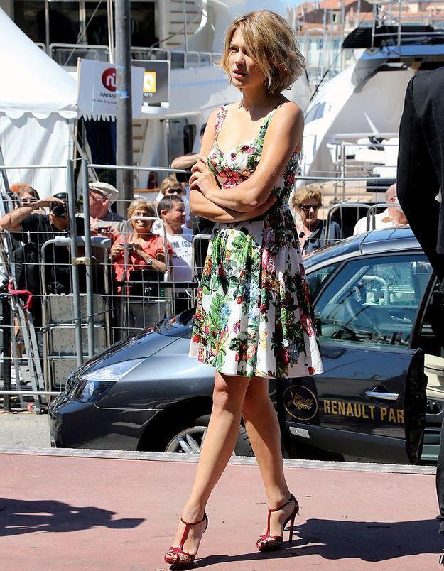 La fraîcheur printanière de Léa Seydoux à Cannes