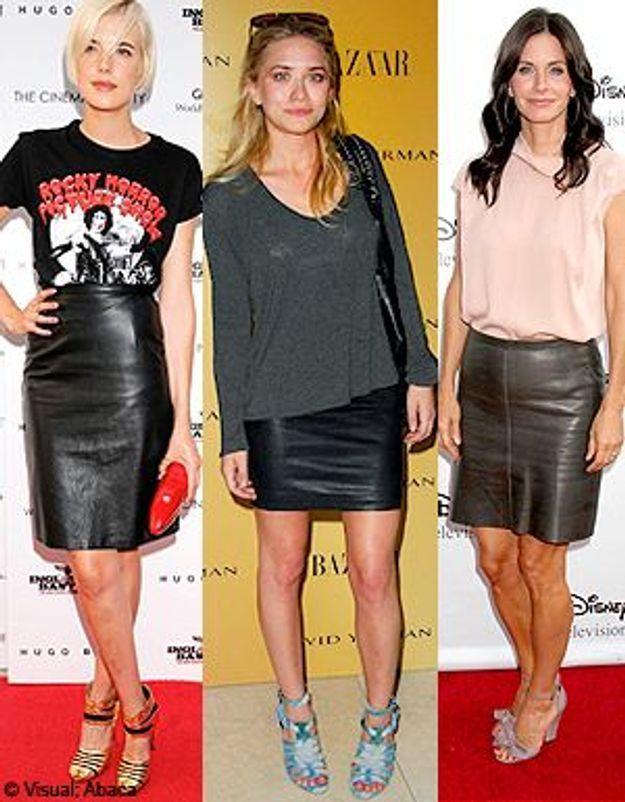 La jupe en cuir ? Toutes les fashionistas se l'arrachent !