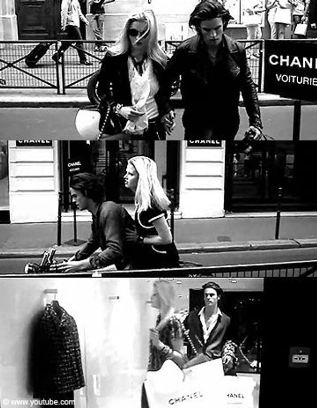 Lara Stone et Baptiste Giabiconi jouent les Bonnie & Clyde !