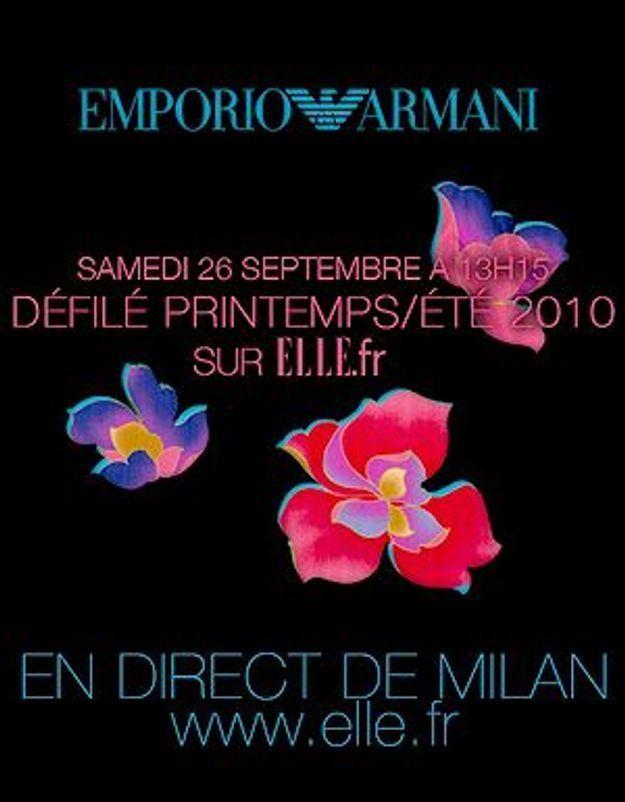 Le défilé Emporio Armani ? ELLE vous y invite !