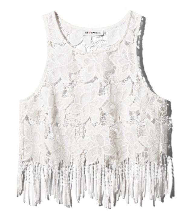 Top blanc H&M Loves Coachella