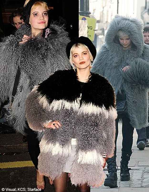 Les manteaux de Pixie Geldof : un vrai parcours fashion !