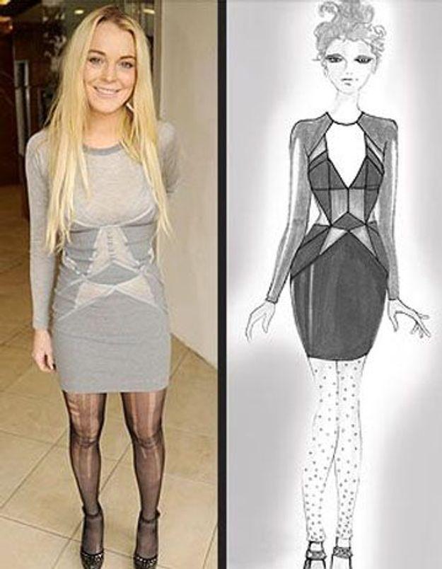 Lindsay Lohan, accusée d'avoir plagié deux stylistes