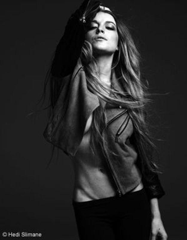 Lindsay Lohan nue pour Hedi Slimane