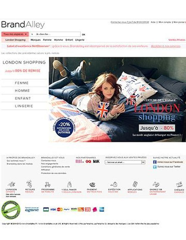« London shopping » : le corner dédié à la mode anglaise de Brandalley
