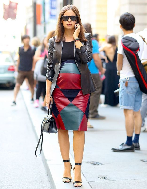 Miroslava Duma enceinte et glamour à la Fashion Week de New York