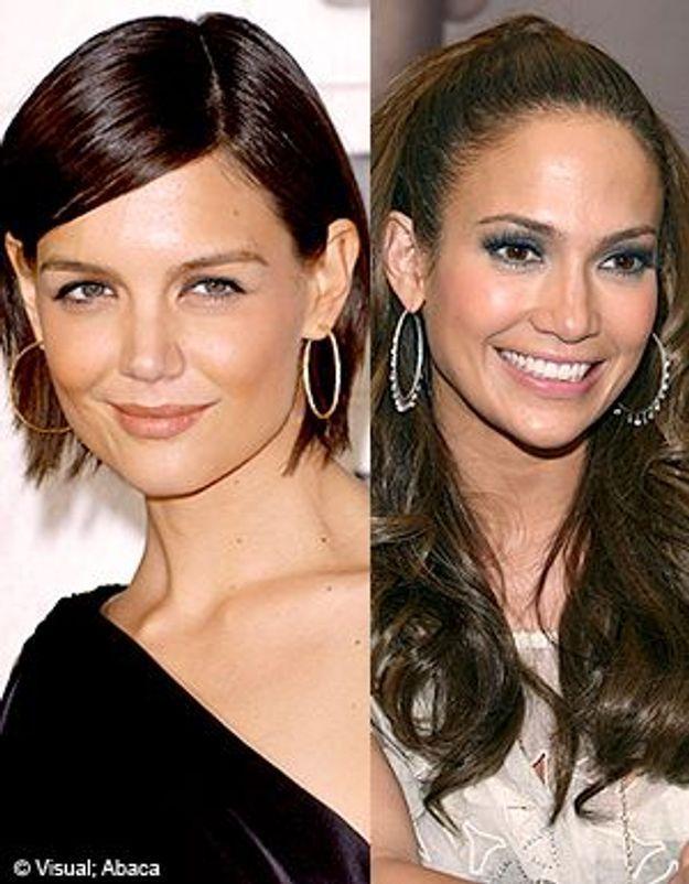 Mode créoles : Katie Holmes vs Jennifer Lopez