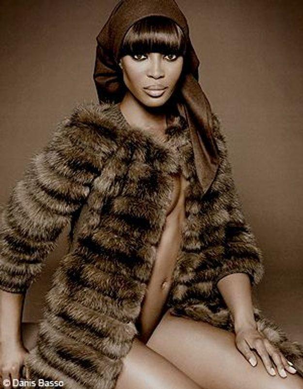 Naomi Campbell : plutôt poser en fourrure que nue !